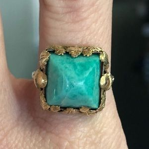 Jewelry - RARE Antique Victorian 14k Gold Amazonite Ring